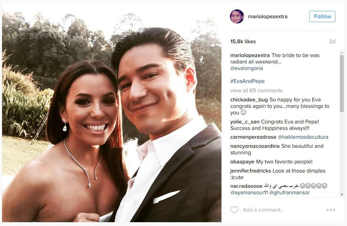 Eva Longoria and several other celebrities shared photos of her nuptials to Instagram. The photos show off the ceremony and the days following the wedding.