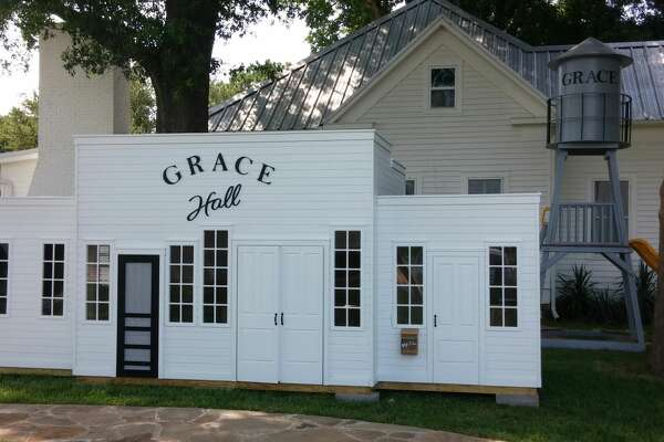 Lilliput Play Homes, based in Pennsylvania, can build custom and pre-designed play houses to ship worldwide, like Grace Hall.
