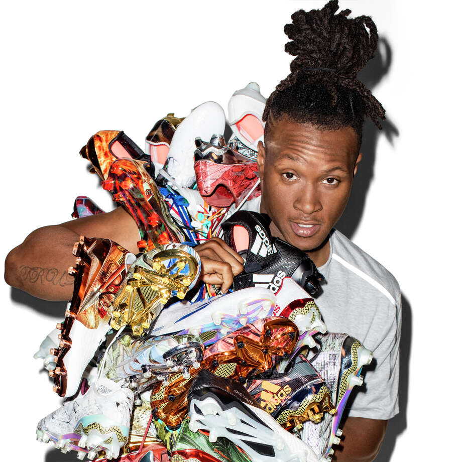 Houston Texans receiver DeAndre Hopkins reached a multiyear deal with adidas on Tuesday. Photo: Adidas