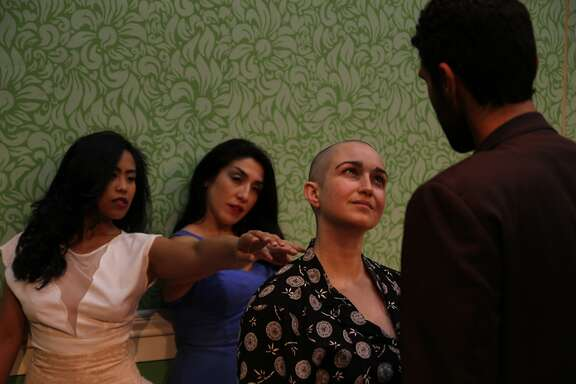 "L-R: Carina Lastimosa Salazar, Marilet Martinez, Ponder Goddard, Kunal Prasad in ""A Dreamplay."""