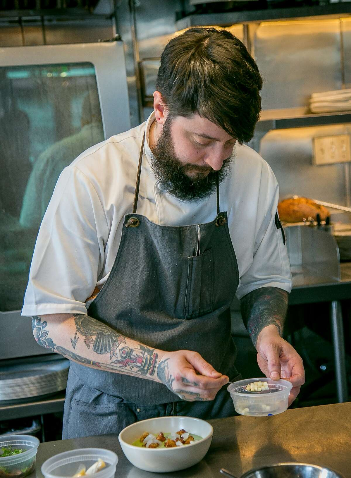 Chef Brett Cooper at Aster in San Francisco. 2015.