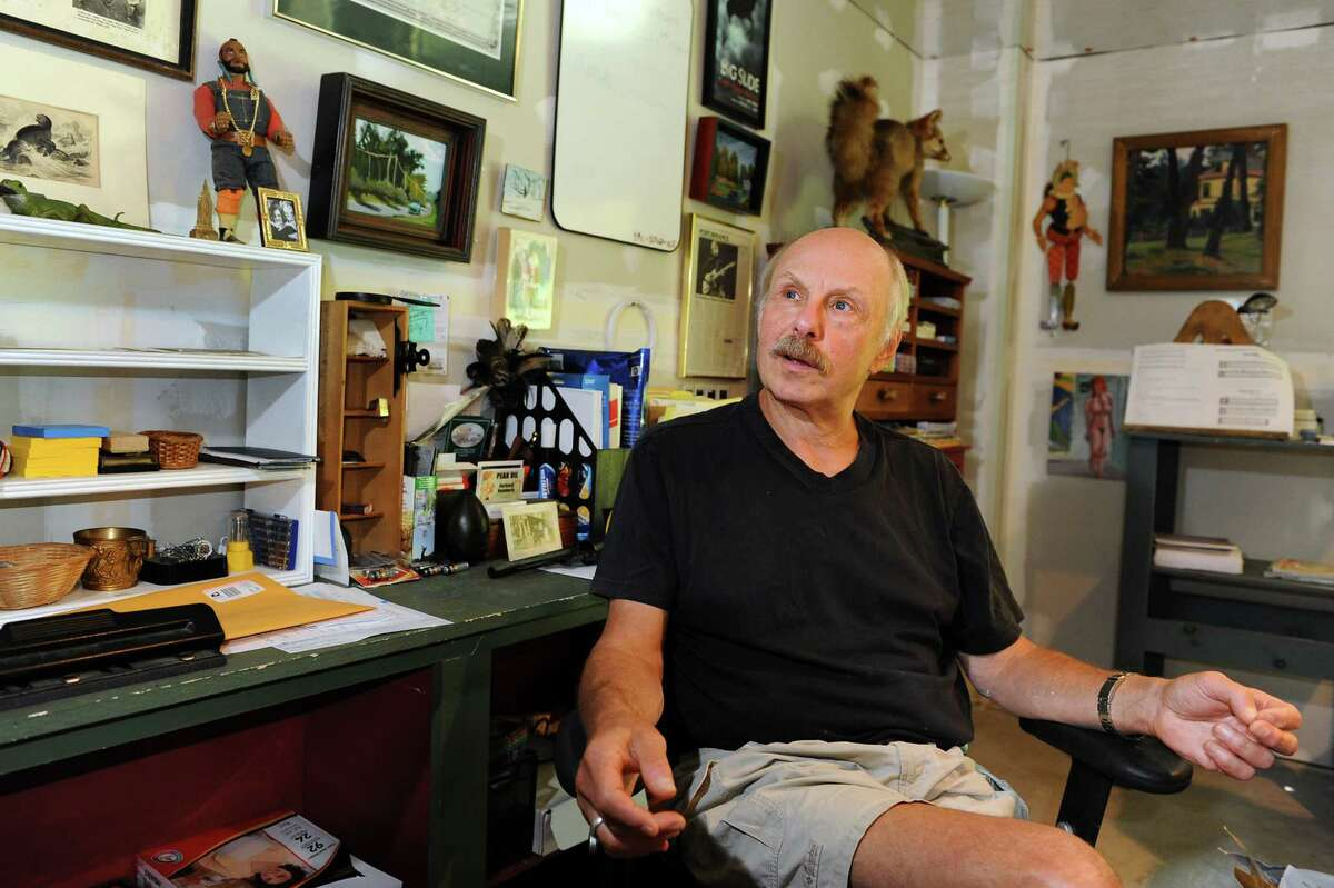 James Howard Kunstler at his writing desk on Tuesday, July 17, 2012, at his home in Greenwich, N.Y. (Cindy Schultz / Times Union)
