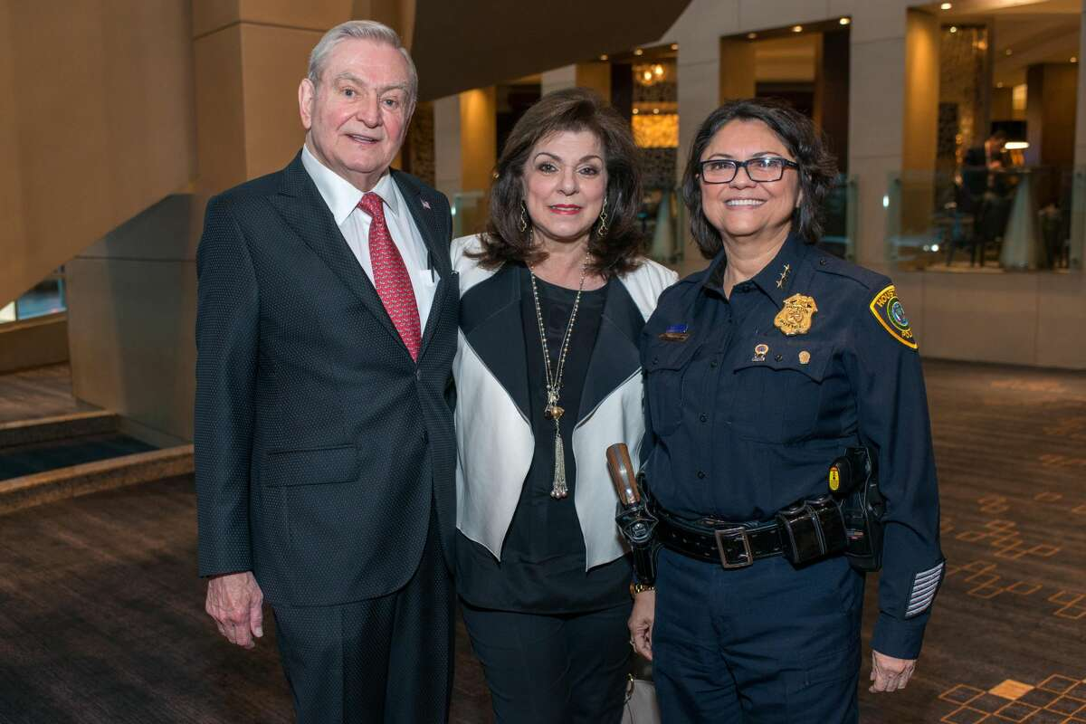 Dave and Laura Ward, Houston Police Department Interim Chief of Police Martha Montalvo