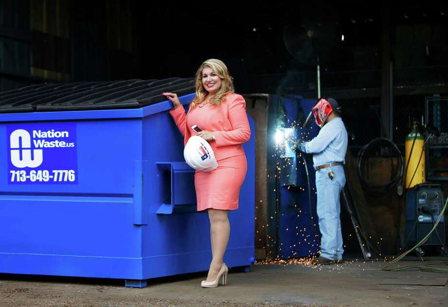 Maria Rios, president and CEO of Nation Waste, Inc., has continued to grow her waste services company business from its base in north Houston, Tuesday, May 24, 2016, in Houston. ( Mark Mulligan / Houston Chronicle ) Photo: Mark Mulligan, Staff / © 2016 Houston Chronicle