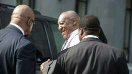 Bill Cosby arrives for his preliminary hearing at the Montgomery County Courthouse in Norristown, Pa.
