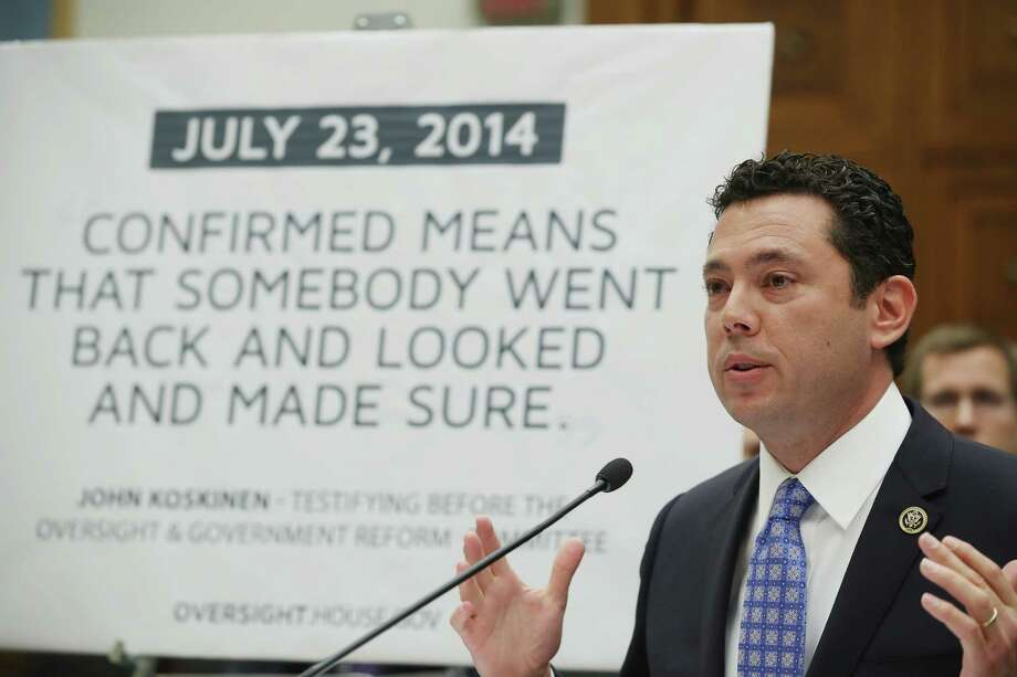 Rep. Jason Chaffetz (R-UT), testifies Tuesday during a House Judiciary Committee hearing on Capitol Hill. The committee was examining the allegations of misconduct against IRS Commissioner John Koskinen.  Photo: Mark Wilson, Staff / 2016 Getty Images