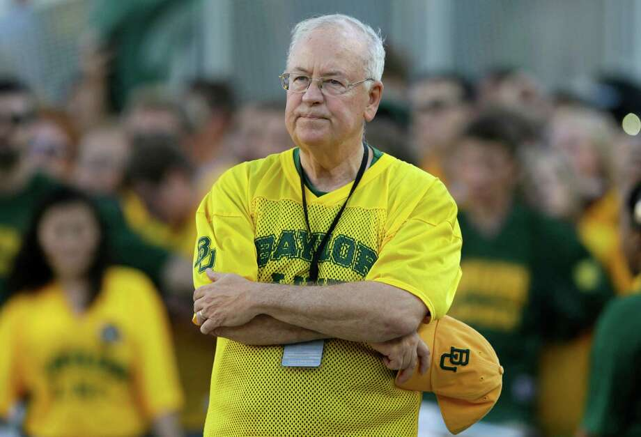 Baylor President Ken Starr waits to run onto the field before an NCAA college football game in Waco  (AP Photo) Photo: LM Otero, STF / Copyright 2016 The Associated Press. All rights reserved. This material may not be published, broadcast, rewritten or redistribu