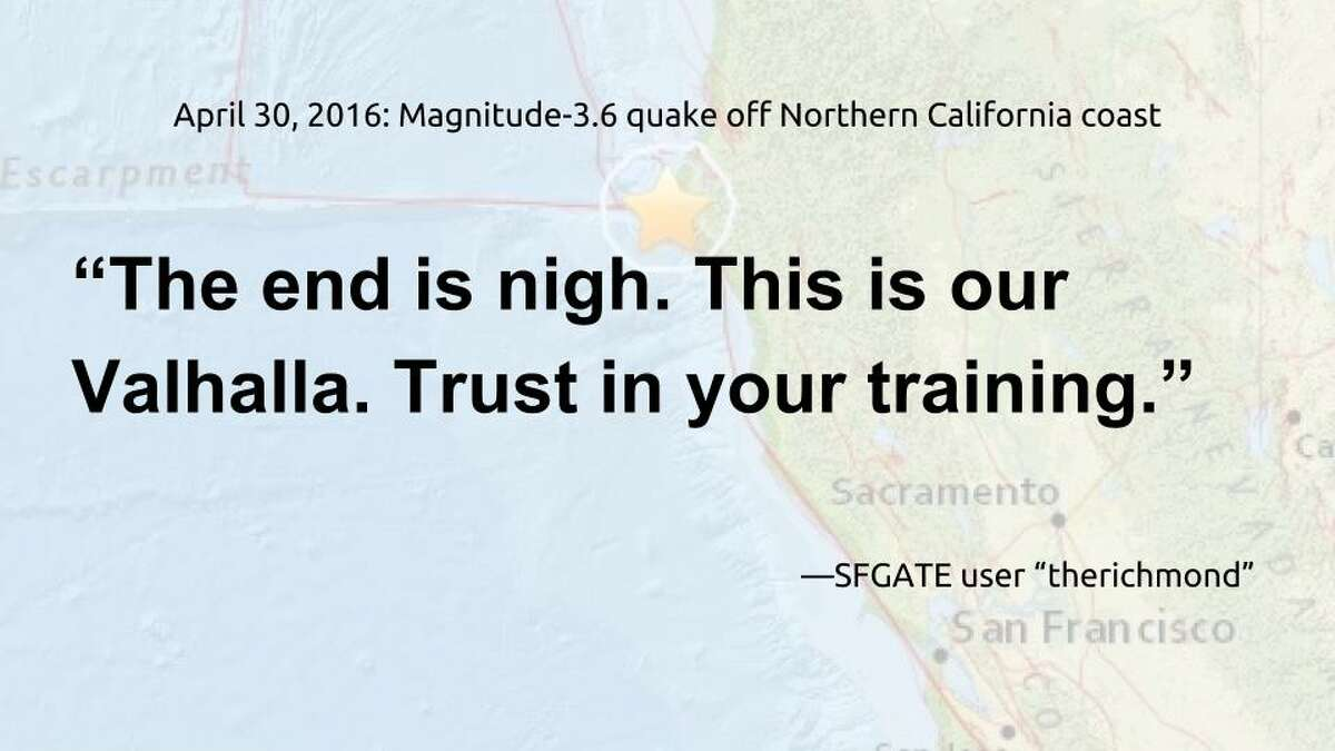 Your comments on our stories about small California earthquakes.