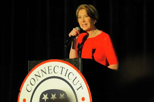 Carly Fiorina, a Donald Trump detractor who was thwarted in her presidential bid, headlines the annual Prescott Bush Awards fundraising dinner of the Connecticut Republicans at the Stamford Hilton on May 24, 2016. This year's recipient of the Bush award is Pat Longo of Norwalk, a longtime GOP stalwart who serves on the Republican National Committee.