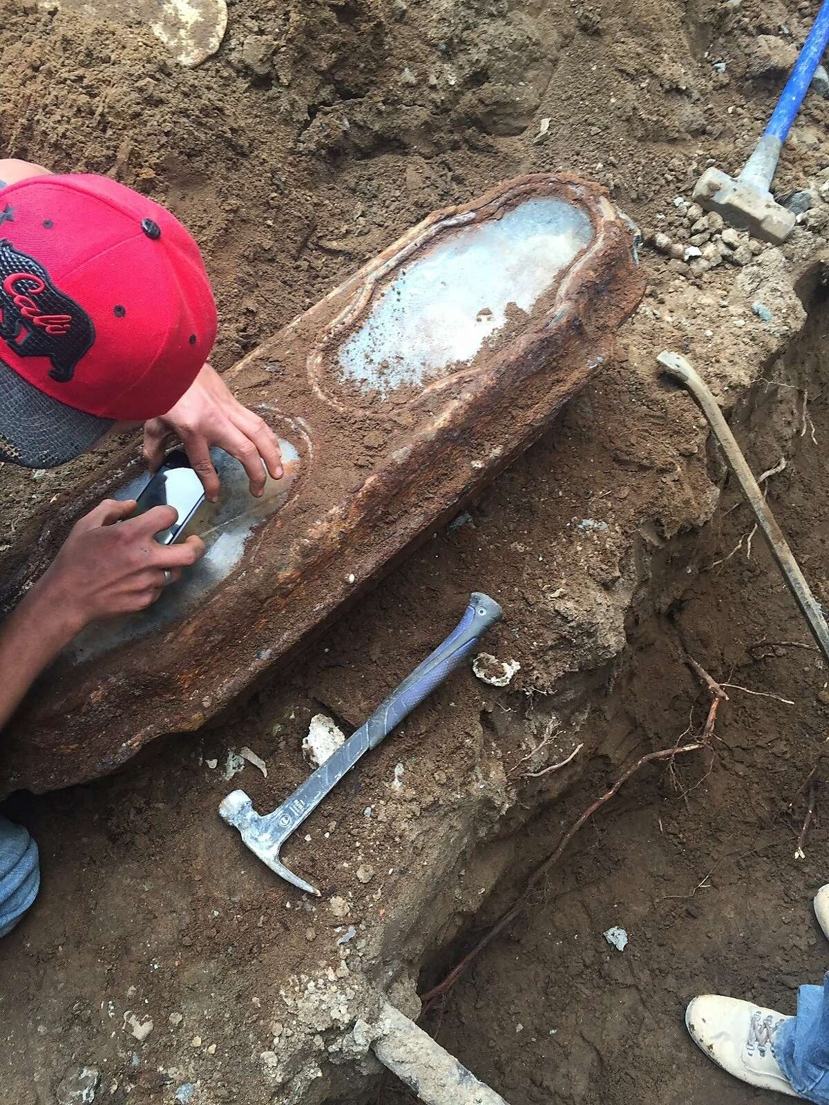 The coffin of a little girl, found buried beneath a San Francisco home.
