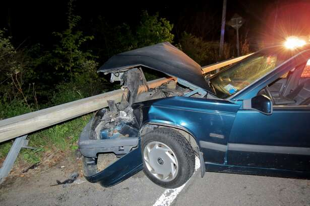 A driver was rescued after she fell 60 feet off a cliff Tuesday night, May 24, 2016, at Thacher Park Road in New Scotland. It took rescuers more than two hours to haul the woman to safety. (Tom Heffernan Sr./Special to the Times Union)
