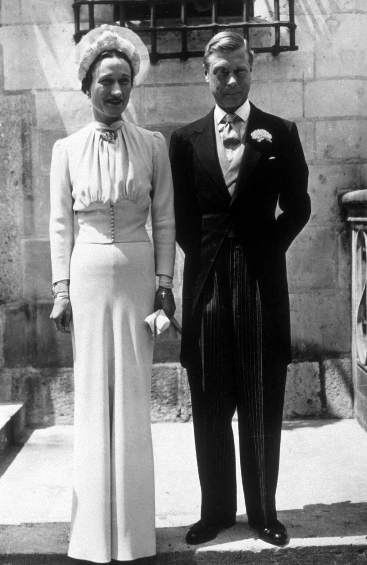 A portrait of the Duke and Duchess of Windsor on their wedding day at the Chateau de Conde in France in June 1937.