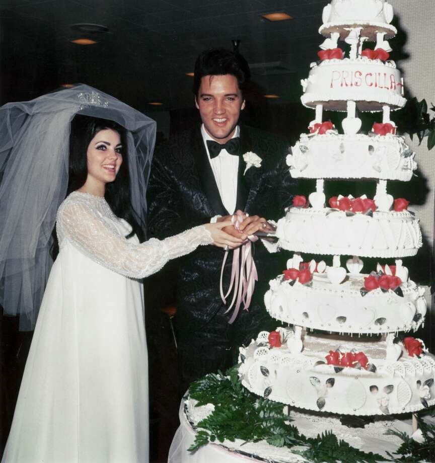 Wedding Photos of Elvis Presley to Priscilla on May 01,1967. Photo: Getty Images