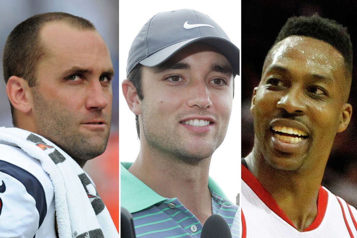 New Texans quarterback Brock Osweiler (center) will be under a spotlight he hasn't experienced before in four NFL seasons, joining highly scrutinized current and former Houston athletes such as Matt Schaub and Dwight Howard. Click through the gallery to see Houston's most scrutinized athletes over the years.