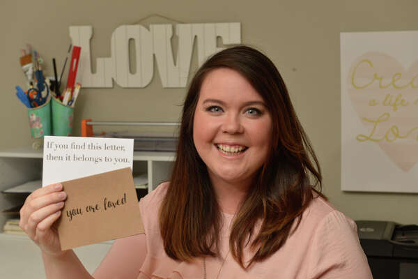 Nicole Ahr started a San Antonio company, The Love Letter Library, making cards designed to be filled out as a love letter and then dropped off somewhere in public for a stranger to find to brighten their day