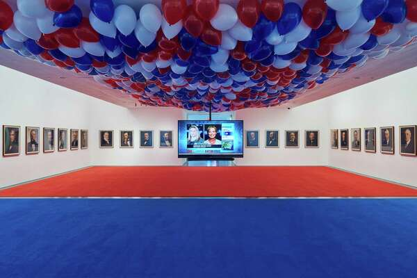 Installation view of November 4, 2008 as part of Jonathan Horowitz: Occupy Greenwich.
