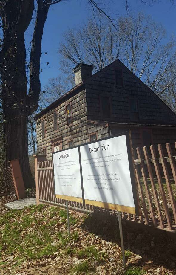 Preservationists hope to raise enough money to save this 18th century saltbox at 8 Ferris Hill, but the deadline is looming. Photo: Thane Grauel / Hearst Connecticut Media / New Canaan News