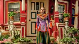 "In this image released by Disney, Mia Wasikowska appears in a scene from ""Alice Through The Looking Glass."" (Peter Mountain/Disney via AP)"