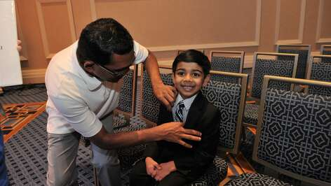 Akash Vukoti, 6, is the youngest contestant at the 2016 Scripps National Spelling Bee. The home-schooled, first grader is from San Angelo, Texas.