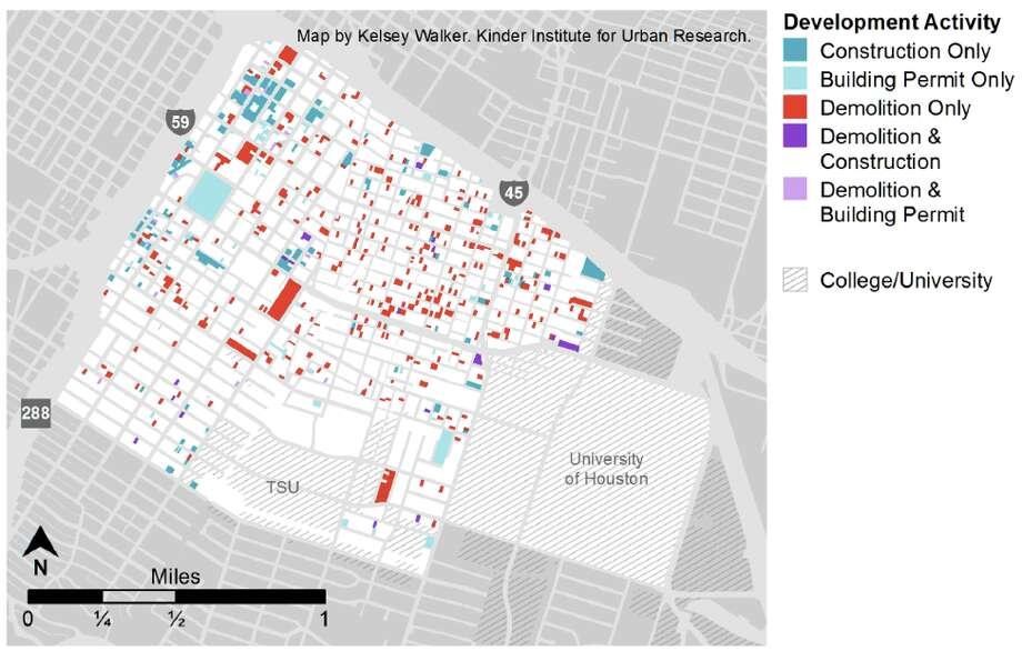 Development in the Third Ward, 2005-2015. Photo: Kinder Institute