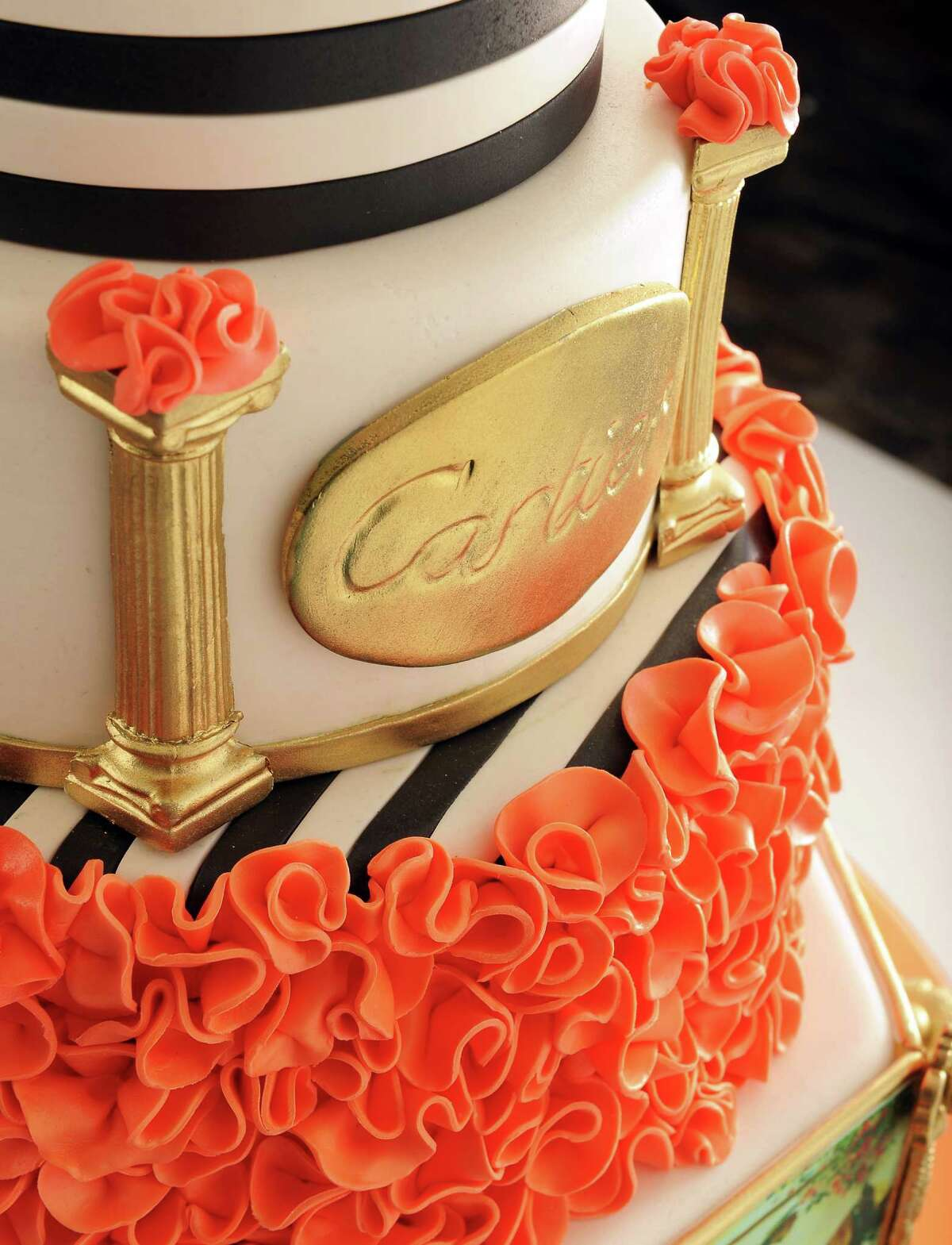 Treatie Beatie Cakes by Evelyn; 1514 Union Ave., Schenectady; 280-2329; website; a highly stylized New York City-themed fashion cake that uses fondant for its decor (John Carl D'Annibale / Times Union)