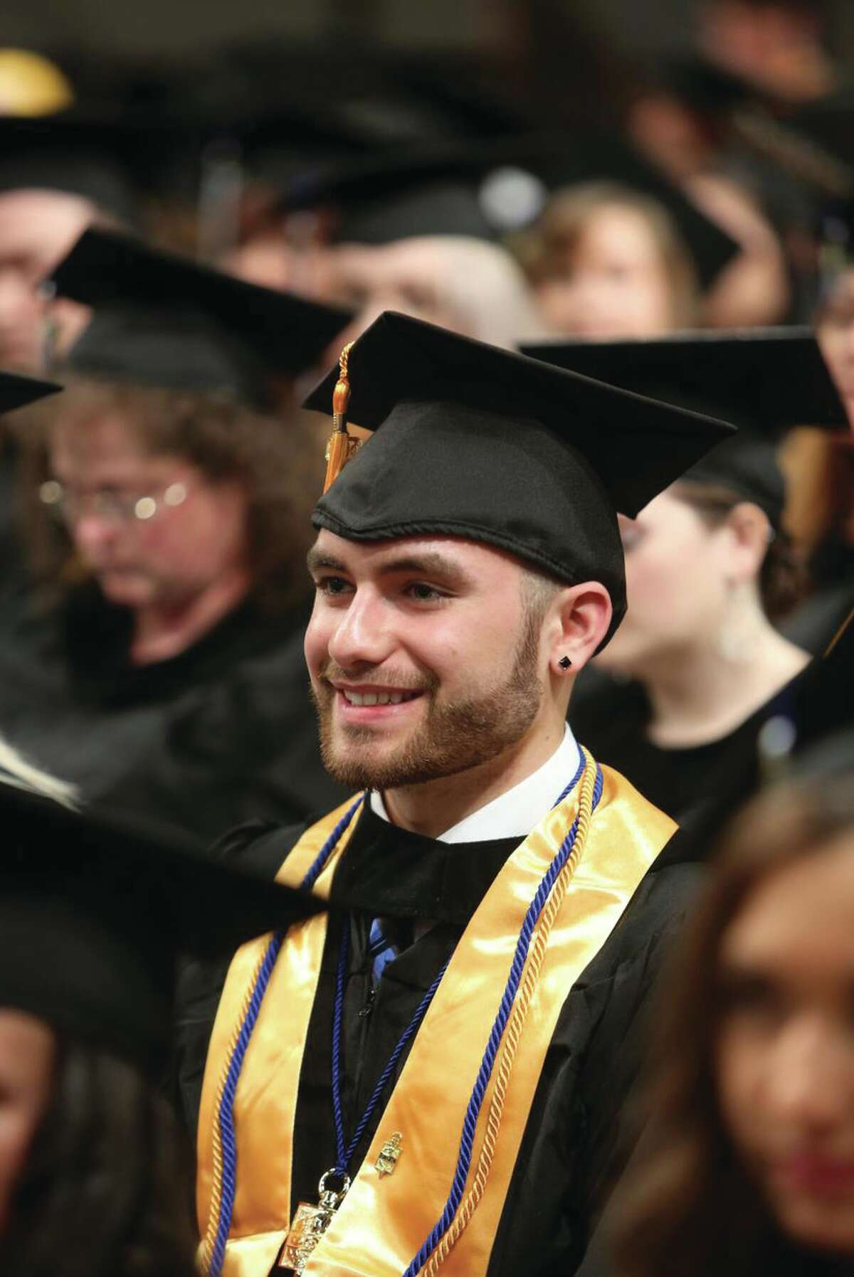 One of the more than 200 graduates of Maria College during he 54th Maria College Commencement on May 15 in the Empire State Plaza Convention Center in Albany, NY. (Maria College photo)