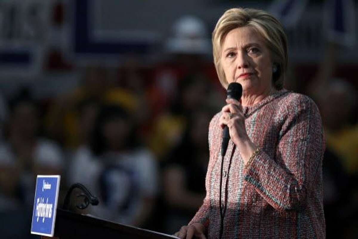 Democratic presidential candidate Hillary Clinton speaks at an event at the UFCW Union Local 324 on May 25, 2016 in Buena Park, California.