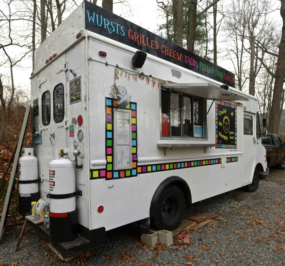 """Mark McManus's food truck """"Only the Hungry"""" in Ridgefield, Conn. Friday, December 11, 2015."""