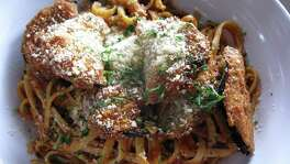 The eggplant Parmesan at Green Vegetarian cuisine can be made vegan upon request.