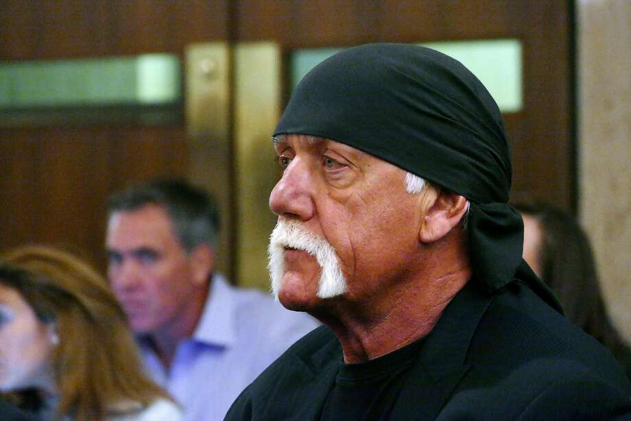 Hulk Hogan, whose real name is Terry Bollea, appears in court, Wednesday, May 25, 2016, in St. Petersburg, Fla. A Florida judge on Wednesday denied Gawker's motion for a new trial in Hogan's sex-video case and won't reduce a $140 million jury verdict. (Scott Keeler/The Tampa Bay Times via AP, Pool) Photo: Scott Keeler, Associated Press