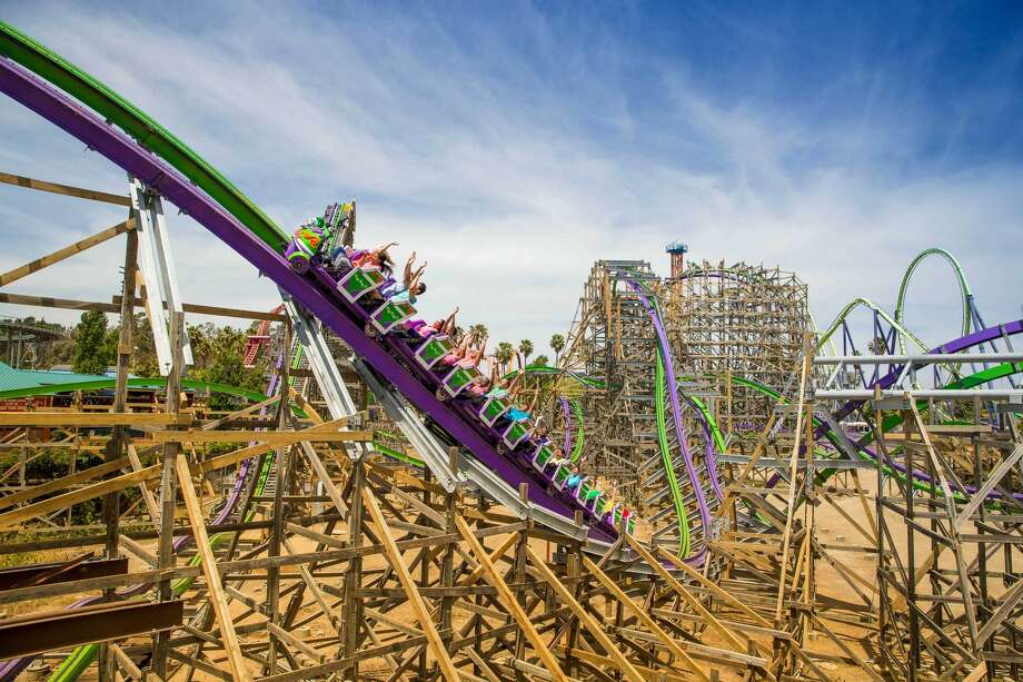 """The Joker,"" a new roller coaster at Six Flags Discovery Kingdom in Vallejo, Calif. Photo: Six Flags"
