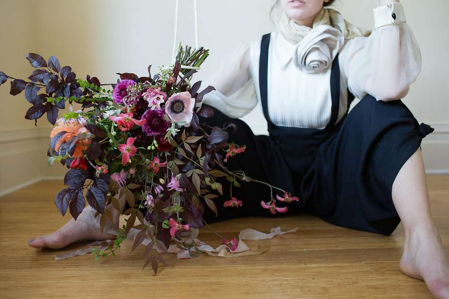 Sonoma County resident Betany Coffland blends two of her passions, opera and flowers, to create her lyrical and musically inspired floral bouquets for her floral studio and flower CSA, Chloris Floral. Photo: Paige Green