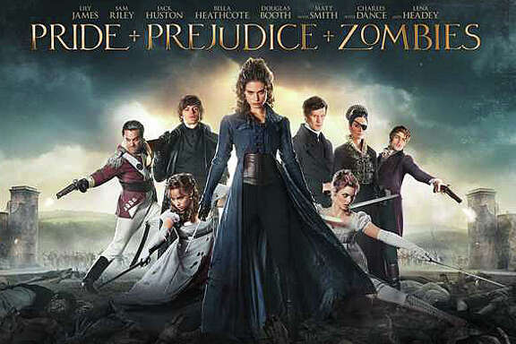 "Jane Austen's classic novel, ""Pride and Prejudice,"" mixed with zombies, results in the new movie parody, ""éPride and Prejudice and Zombies.é"