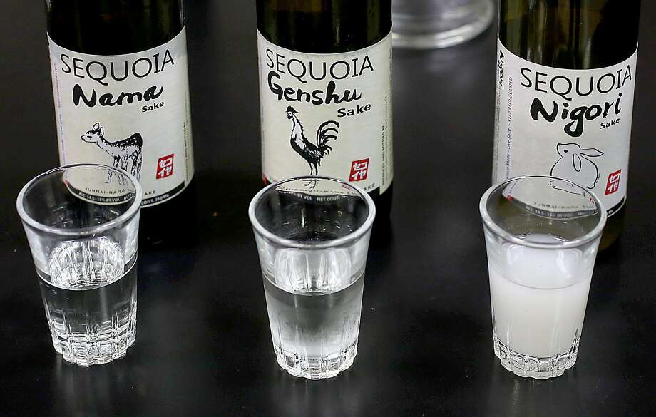 Sake at Sequoia Sake at the brewery in the Bayview neighborhood. Photo: Liz Hafalia, The Chronicle
