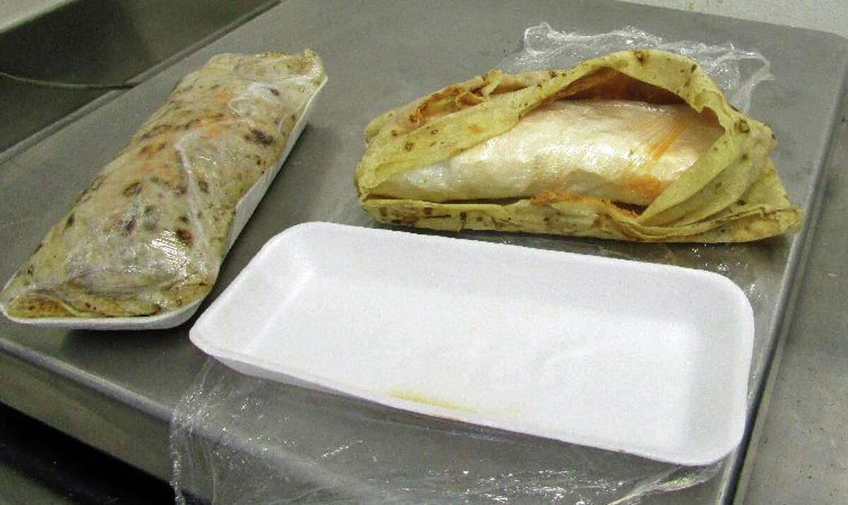 Two packages disguised as burritos where determined to be more than a pound of meth, by a CBP narcotics detection canine.