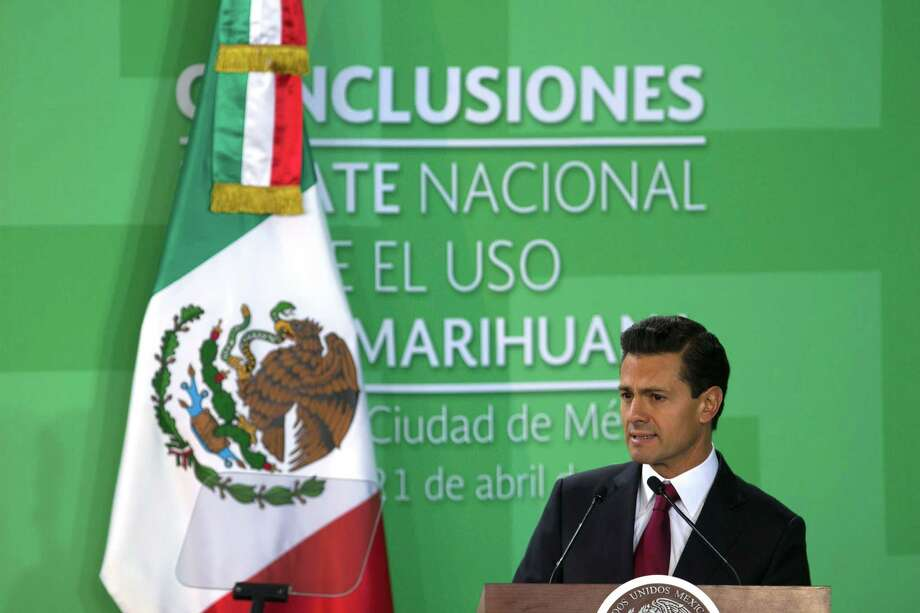 Mexican President Enrique Peña Nieto's popularity rating has slid to a low 30 percent — presumably due to concerns over the country's rule of law and recent uptick in violence, but there has been little deviation in the administration's strategy and messaging. Photo: STR /AFP /Getty Images / AFP or licensors