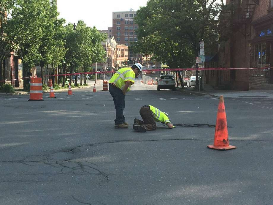 Albany Sinkhole May Take Days To Repair Times Union