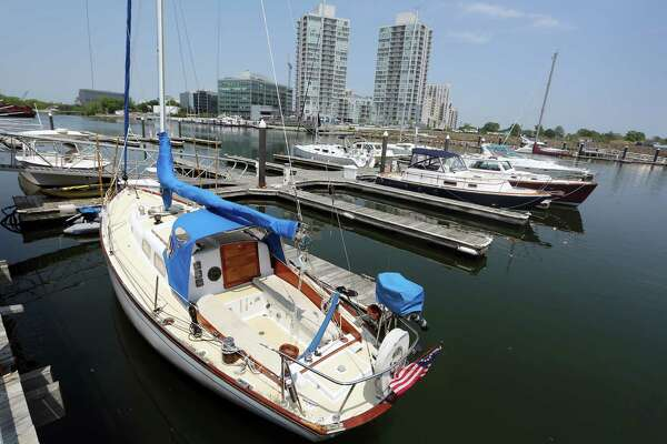 Boats sit in Stamford Landing Marina on Wednesday, May 25, 2016. The Harbor Management Commission is considering fees for boat slips this summer.