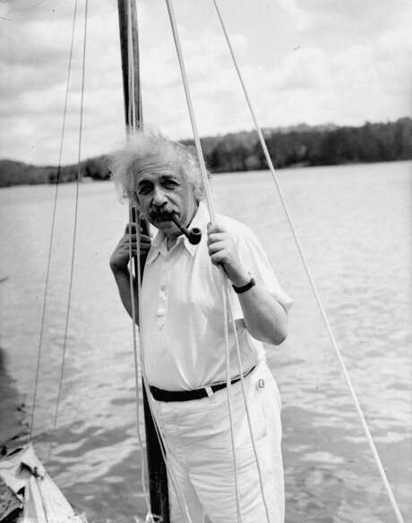 Einstein on vacation in the Adirondacks, July 3, 1936. Photo: AP / AP