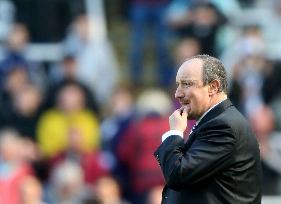 Newcastle United's Rafa Benitez looks on from the touchline during the English Premier League football match between Newcastle United and Tottenham Hotspur at St James' Park in Newcastle-upon-Tyne, north east England on May 15, 2016. Newcastle won the game 5-1. / AFP PHOTO / Scott HeppellSCOTT HEPPELL/AFP/Getty Images Photo: SCOTT HEPPELL, AFP/Getty Images