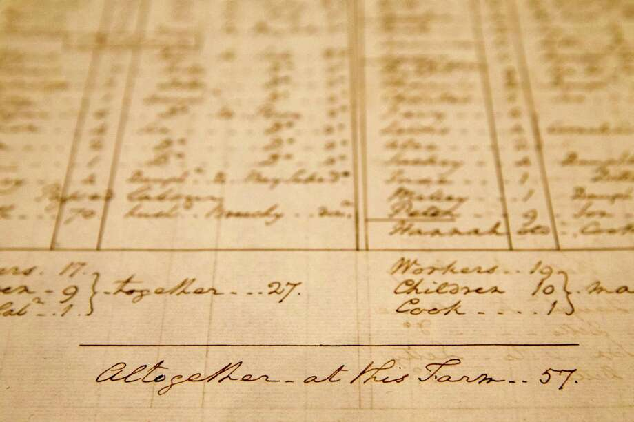 A George Washington-penned list of slaves will be the centerpiece of a Mount Vernon exhibit that takes a hard look at Washington's life as a slaveholder. Photo: Jacquelyn Martin / Associated Press / Copyright 2016 The Associated Press. All rights reserved. This material may not be published, broadcast, rewritten or redistribu