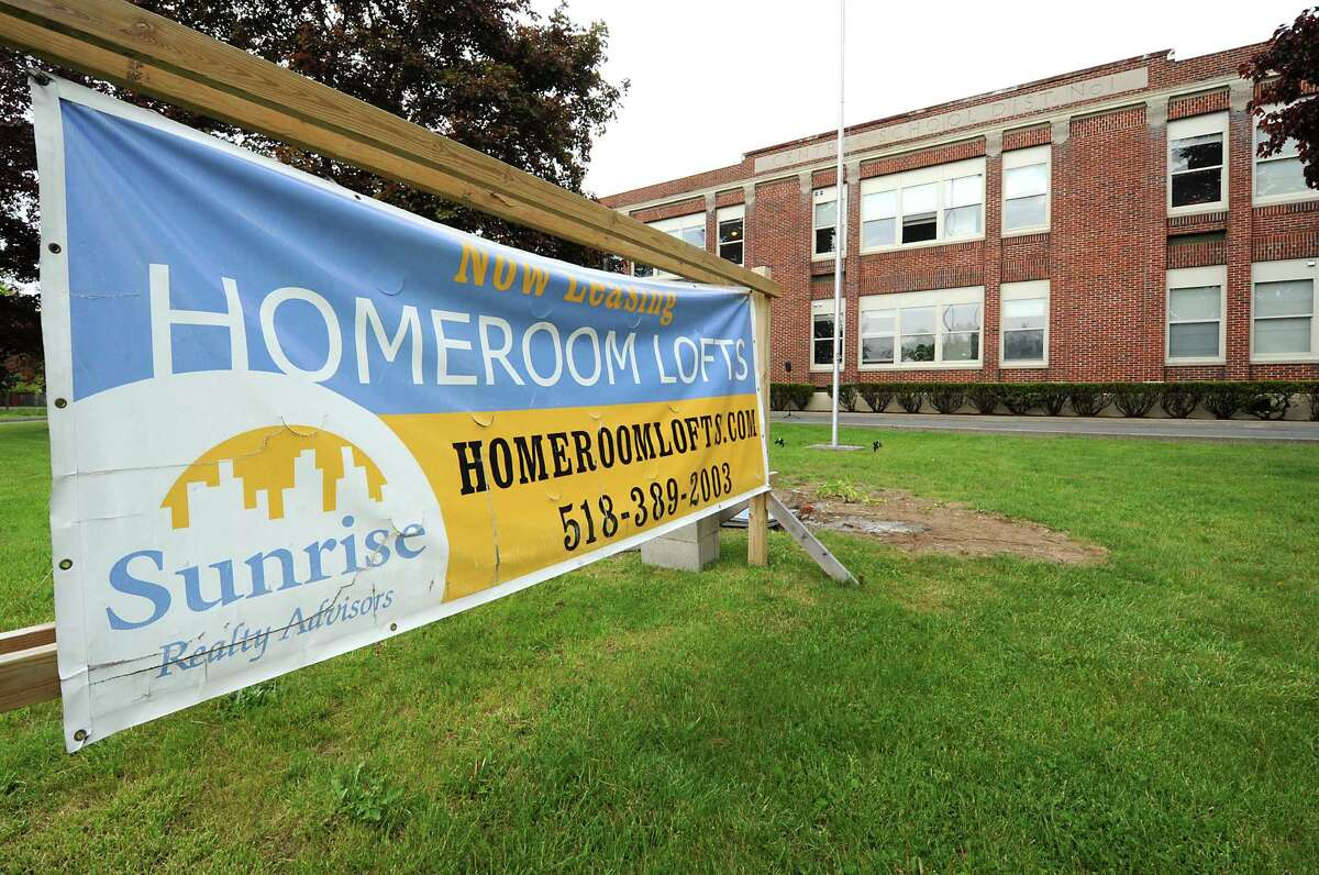 Exterior of Homeroom Lofts on Wednesday, May 25, 2016 in Averill Park, N.Y. There was a ribbon cutting ceremony for the former Sand Lake school which has been converted to loft apartments. (Lori Van Buren / Times Union)