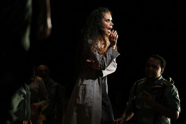 Ginger Costa-Jackson as Carmen preforms at the final dress rehearsal of Bizet's Carmen at the San Francisco Opera in San Francisco on May 25, 2016.