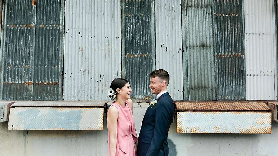 Dan Toffey, a community manager at Instagram, got married in a custom blue Trumaker suit in the spring. Photo: Alison Yin Photography