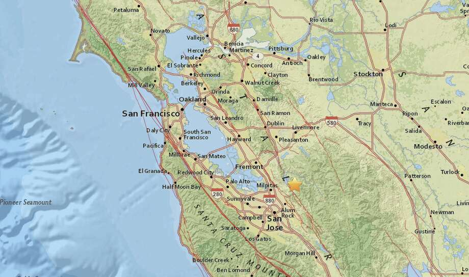A magnitude-2.8 earthquake struck East Foothills on Wednesday afternoon. Photo: USGS