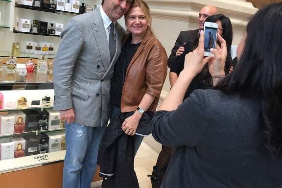 Brunello Cucinelli in San Francisco at Neiman Marcus, after speaking at the Financial Times Business of Luxury Summit 2016.