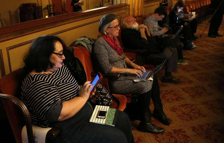 Cristin O'Keeffe (left) and Debra Avery were two of the tweeters the S.F. Opera invited to the dress rehearsal. Photo: Michael Macor, The Chronicle