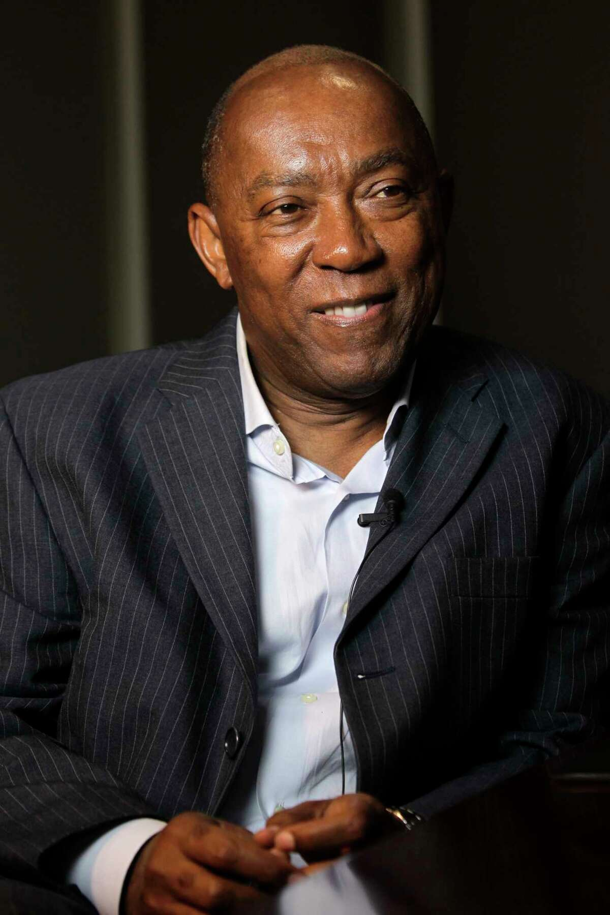FILE - City of Houston mayor-elect Sylvester Turner speaks during an interview on Dec. 13, 2015 in Houston, Texas. Turner, alongside other mayors across the U.S., is pledging to honor the 2015 Paris Agreement despite President Donald Trump's announcement he would withdraw.