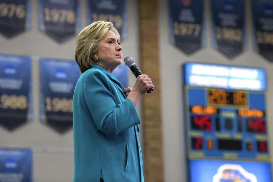 """A spokesman said Hillary Clinton's use of a private email account was """"not unique."""" Photo: MONICA ALMEIDA, STF / NYTNS"""
