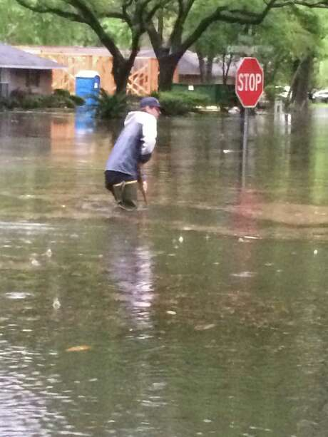 Flooding in Memorial City. Photo: Courtesy Dean Bixler